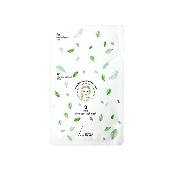 A by Bom 2 step ultra cool leaf mask