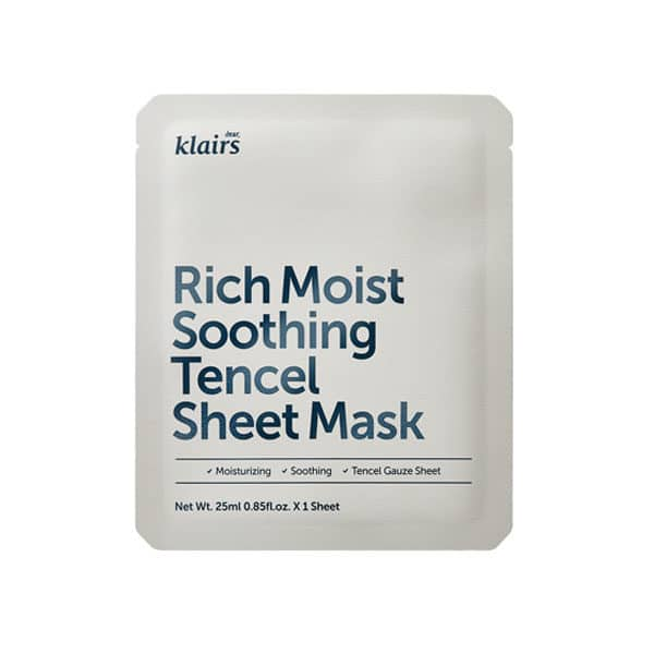 Klairs Rich Moist Soothing Tencel sheet mask_