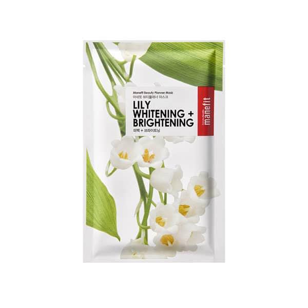 MANEFIT lily whitening brightening mask