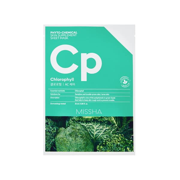 MISSHA Phytochemical skin supplement chlorophyll mask