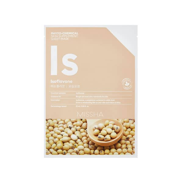 MISSHA Phytochemical skin supplement isoflavone mask