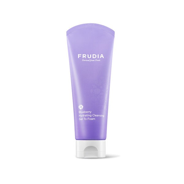frudia blueberry hydrating cleansing foam