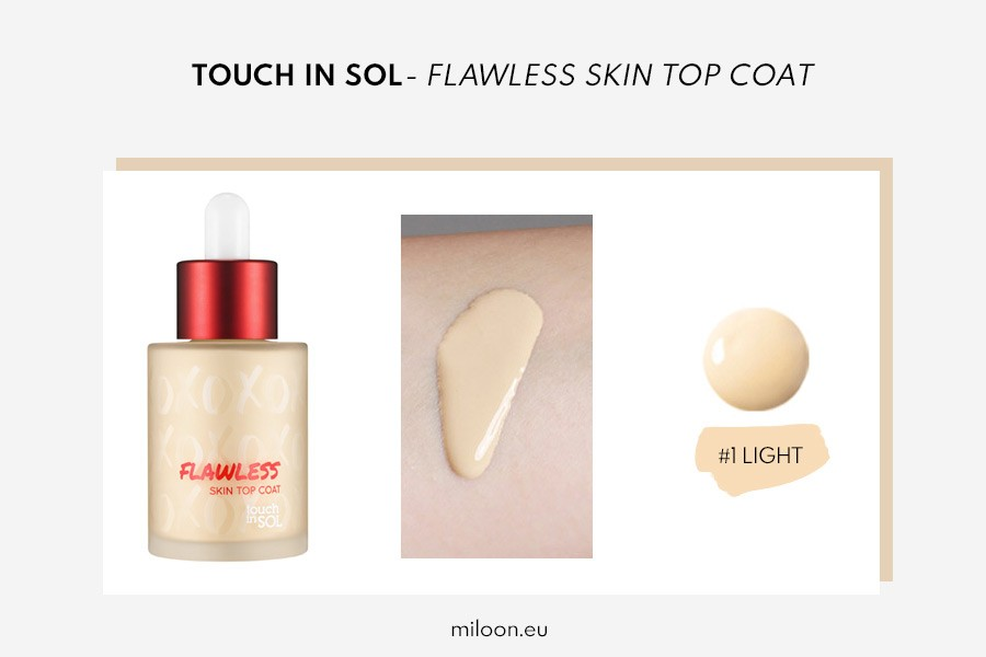 miloon touch in sol FLAWLESS skin TOP COAT