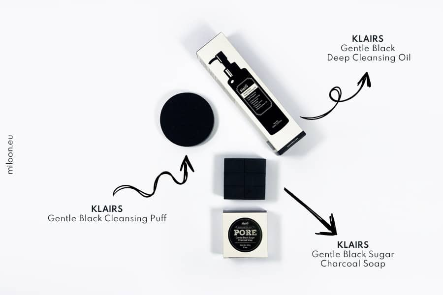 klairs gentle black deep cleansing puff